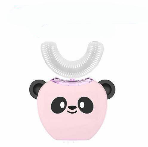 Drop Ship Epack V-white toothbrush Cold Light Whitening Cute animal Panda Toothbrush Automatic kids electric toothbrush