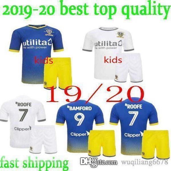 neue 19 20 Leeds United zu Hause weg Fußballjersey-Kinder-Kit 2019 2020 Roofe BAMFORD Alioski 100. Centenary JANSSON Fußballhemden