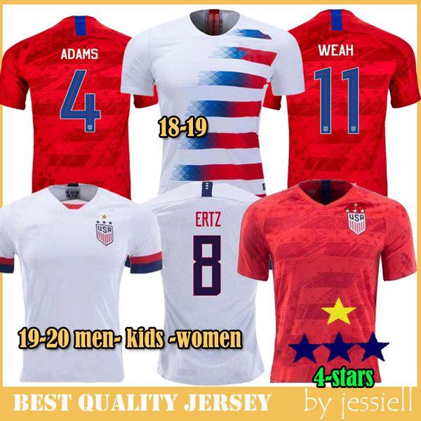 Copa America Soccer Jerseys 19 20 4 stars USA-Weltmeisterschaft Customized DEMPSEY DONOVAN BRADLEY PULISIC Uniform für amerikanischen Fußball United
