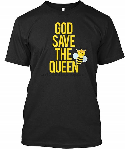 Camisa impressa T Algodão Gola Manga Curta Escritório Presente God Save The T Para Homens