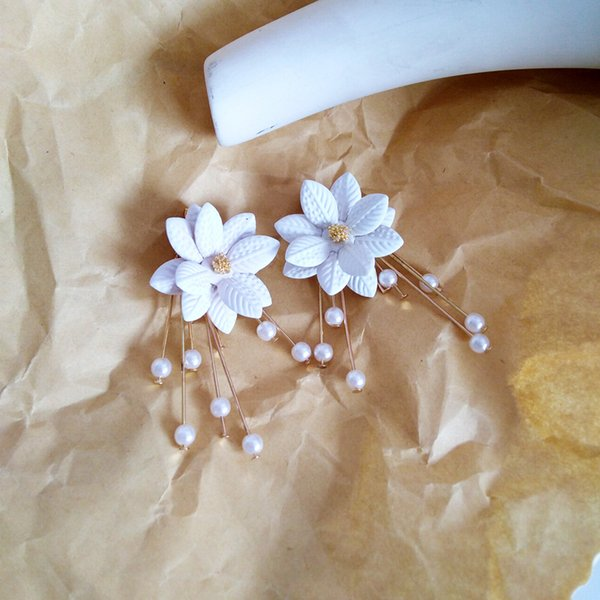 Flower Lady's Earrings Spring Summer Melting Ear Is Acted The Role of Fashionable All-purpose Pearl Ear To Nail Ear Clip