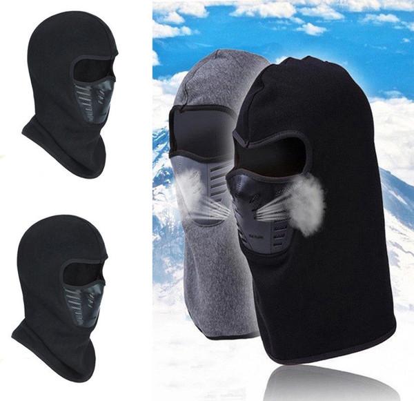 Balaclava Ski Masques de coton moto cou visage haut de gamme chaud ou tactique Bal élégant des femmes des hommes unisexe Beanies