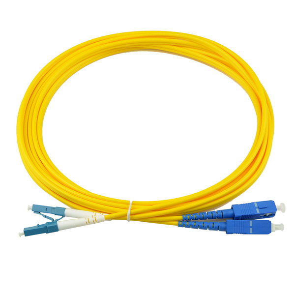10PCS SC-LC 3M Singlemode Duplex 2.0/3.0MM Fiber Optic Patch Cord SC Duplex fiber optic patch cable Jumper Free shipping