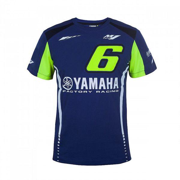 Мотоцикл мотоцикл для Yamaha M1 T-Shirt Team Racing синий мужская футболка