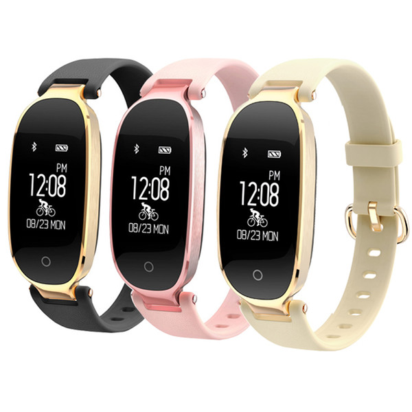 Heart Rate Bracelet Ladies Sports Waterproof Bluetooth Wear Step Counter Health S3 Smart Bracelet Table FOR Android IOS
