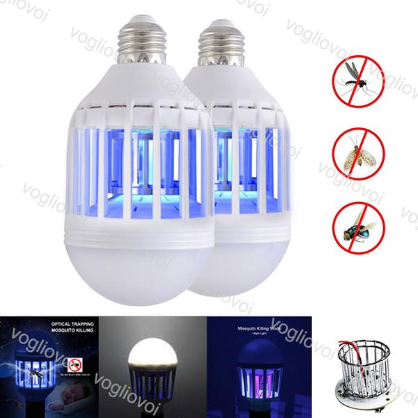 Светодиодные лампы Москито Киллер 110V 220V 12W Для Hallway Балкон UV кухня Спальня Trap Пластиковые PC Крышка высокой яркости SMD2835 EUB