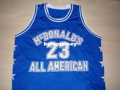 Дешевые мужские майкл макдональд все американские джерси синий новый размер XS - 5XL ретро трикотажные изделия для баскетбола NCAA колледж