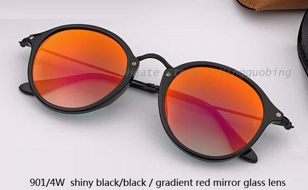 901/4W shiny black /gradient red mirror