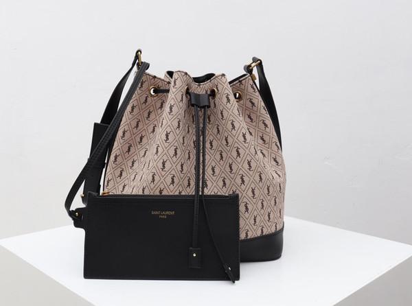 Теперь дизайнерская сумка Большая сумка-ведро для женщин Высококачественная дизайнерская сумка на плечо Размер 25x27x17CM Модель сумки