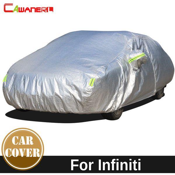 Cawanerl Épaissir coton Car Cover Ombre imperméable soleil pluie neige Hail Protection Dust Cover Auto pour Infiniti EX ESQ FX G Series