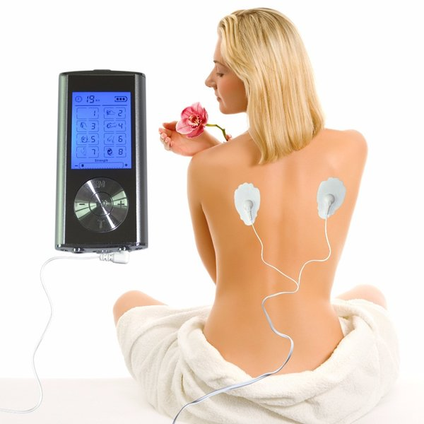 New Electric Digital Tens Therapy Massager Full Body Health Care Muscle Stimulator Pain Relief 8Mode With 5Pairs Electrde Pads Y181127