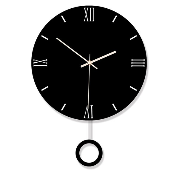 Creative Swing Hanging Durable Electronic Wall Clock Large Wall Arts And Crafts Modern Design Clock