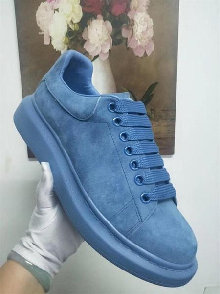 Echt Grau Wildleder Sneaker-Designer-Schuhe Luxus-Plattform Maxi-Turnschuh Männer und Frauen Hochzeit Schuhe Qualitäts-X03