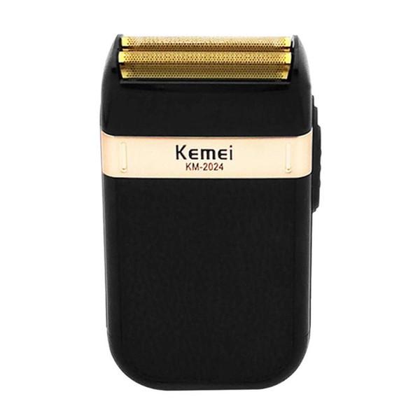 Erkekler için Kemei KM-2024 Elektrikli Tıraş Makinesi Jilet Çift Bıçak Su Geçirmez Alternatif Akülü USB Yükleme Makinesi Berber ...