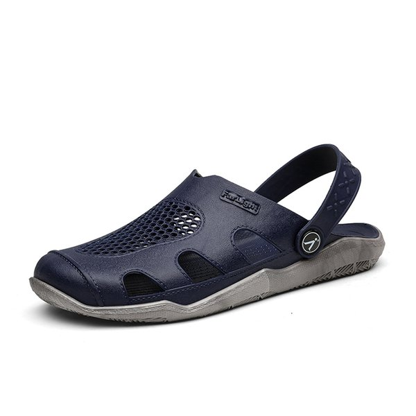 Hot Sale-Europe And The United States Summer Men's Baotou Hole Shoes Beach Shoes Trend Breathable Sandals Lightweight Non-slip Nest