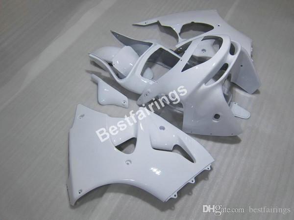Meistverkauftes Verkleidungsteil für Karosserie-Teile für Kawasaki Ninja ZX6R 1998 1999 weiße Verkleidungssätze ZX6R 98 99 CF27