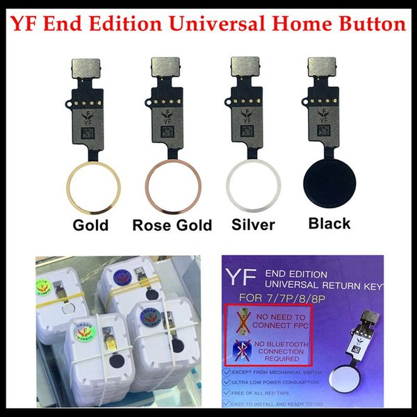 50pcs yf universal home button flex for iphone 7 8 plus return home function solution 3rd generation black white gold rosegold ship