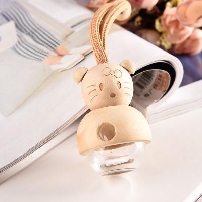Cartoon Car Accessoires Parfum voiture peut être rempli avec une bouteille vide Rearview Mirror Ornements de bouteille de parfum voiture EEA82