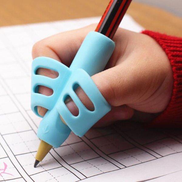Silicone double finger pen baby learning writing correction tool pencil device stationery