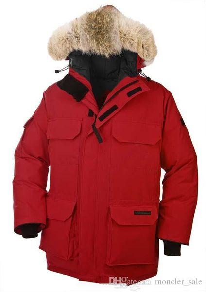 Men's Down Parkas Goose Men's Expedition Parka Long Detachable Down Jacket Breathable And Comfortable Warm 90% White Goose Down Fashion Coat