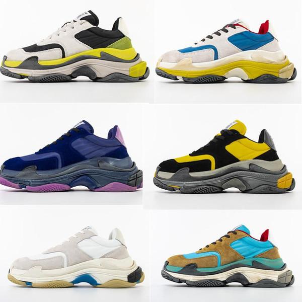 2019 Yeni Moda Paris Triple-S Tasarımcı Ayakkabı Düşük Platformu Sneakers Üçlü S Erkek Casual Kadınlar tasarımcı gündelik Spor Eğitmenler zapatos