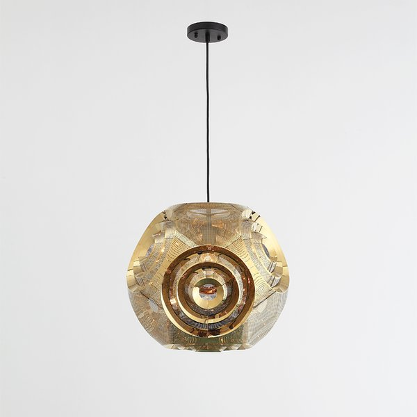 Nordic space ball pendant lamps living room bedroom stainless steel ball polyhedron circular restaurant pendant lights