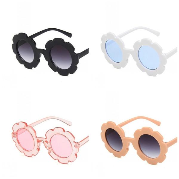 b4fcab75f3ea flower eyeglass frames Promo Codes - Sun Flower Child Sunglasses Concave  Shape Glasses Unisex Baby Anti