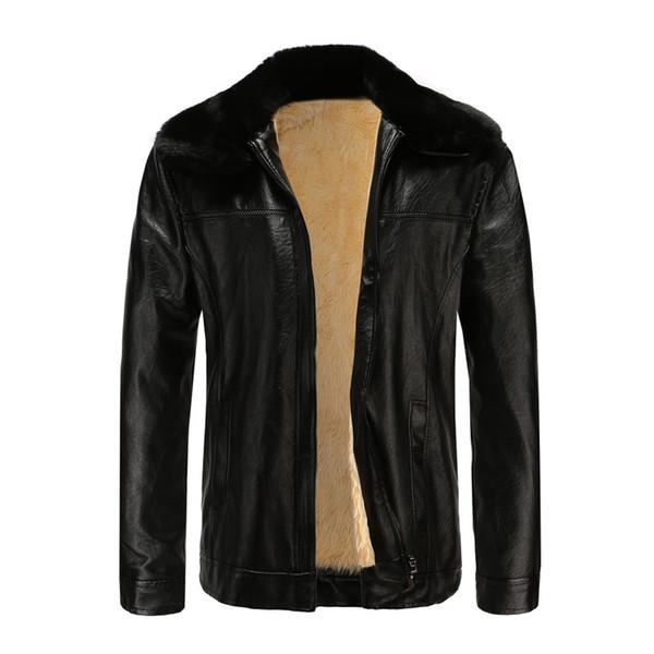 Leather Jacket Men Jaqueta Motoqueiro The New Paragraphs Bushiness Men Washed Leather Qiu Dong Old Long Coat Collars Jacket