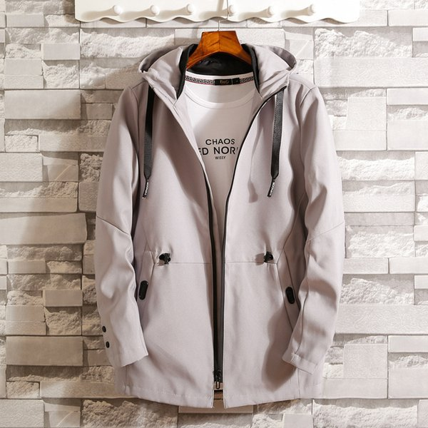 Pop2019 Cross Border Cool Time Man Windbreaker Korean Self-cultivation Jacket Thin Spring And With The Pattern