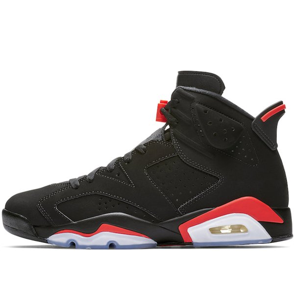 buy online 00b89 f64a3 2019 AirJordanRetro 6 REFLECTIVE INFRARED 6s Men Basketball Shoes Black  Infrared 2019 DMP Carmine Mens Trainer Athletic Sports Sneakers From ...