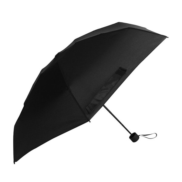Compact Travel Umbrella Sun And Rain Lightweight Totes Small And Compact Suit For Pocket Black