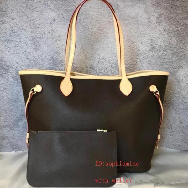 2 unids / set de alta qulity diseñador clásico para mujer bolsos de flores compuesto tote PU cuero embrague bolsos de hombro monedero femenino con la cartera