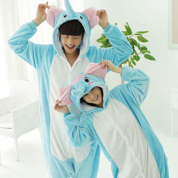 2019 Adult Kigurumi Pyjamas Women Cosplay Cartoon Animal Pijama Winter Warm Flannel Sleepwear Unisex Hooded Adult Onesie