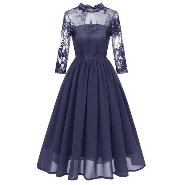 Cheap Country Grey Bridesmaid Dresses for Wedding Chiffon A-Line Backless Formal Dresses Party Lace Modest Maid Of Honor Dress