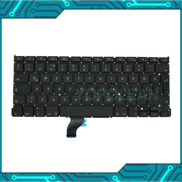 "3 PCS New Turkey Turkish Keyboard For Macbook Pro Retina 13"" A1502 2013 2014 2015 Years"