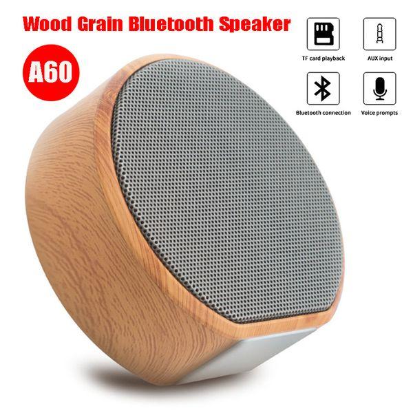 Tragbarer kabelloser Lautsprecher Bluetooth-Freisprecheinrichtung für den Außenbereich Stereo-Soundsystem für Lautsprecher mit Holzmaserung unterstützt Bluetooth-TF-Karte USB