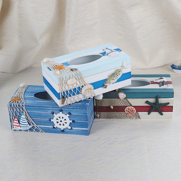 YINUO Wooden Tissue Boxes Napkin Square Shape Paper Holder Drawer Car Tissue Box Cover Holder Plush Wood Classic