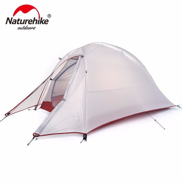 NatureHike Single Person Tent Double Layer Tent Waterproof Dome Tents Outdoor Camping 4 Seasons Tents With 1 Person Floor Mat