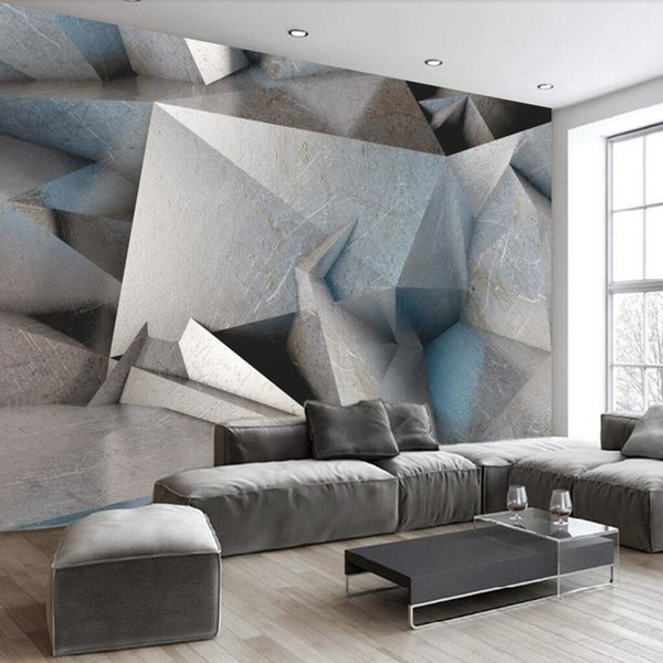 Benutzerdefinierte 3d Wallpaper für Bar Retro geometrische 3d industrielle Wandtapeten Heimwerker 3d Tapeten für Wände Wohnzimmer Arkadi