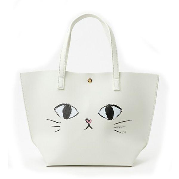 Fashion Women Shoulder Bags Tote Japan Quality Cute Big Eyes Cat Printing Women Handbag Fashion Handbags Casual Tote 172
