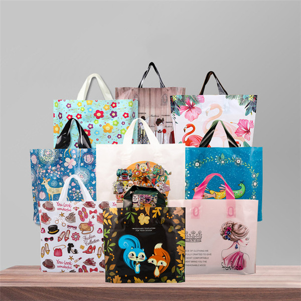 Holiday gift special hand-held thickened gift bags shopping bags 50 festive party gift Packing bag T3I5118