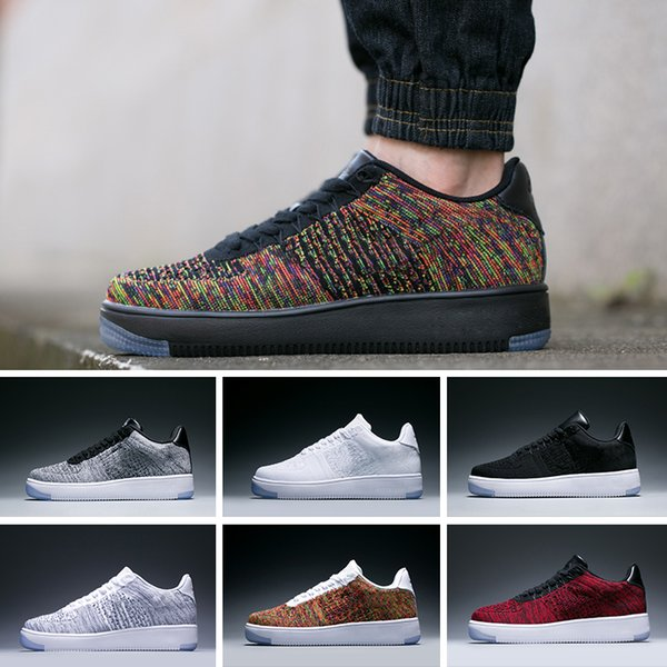 Nike air max force fly Mode Männer Schuhe Low One 1 Männer Frauen China Freizeitschuh Designer Royaums Typ Atmen Skate stricken Femme Homme 36-45