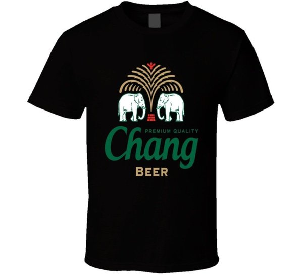 Chang Beer Drink Alcohol Party Drunk T Shirt Funny free shipping Unisex Casual Tshirt top