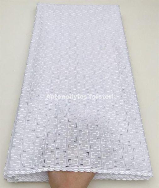 İsviçre'de orijinal İsviçre vual dantel beyaz nijeryalı dantel kumaşlar lehçe atiku kumaş erkekler için yüksek quality5yard / set HFZ-