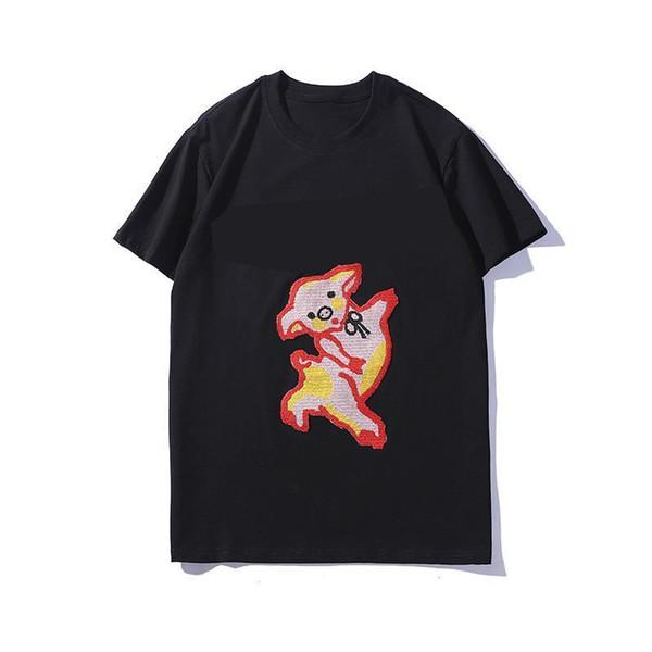 Diseñador Hombres Camiseta de manga corta Marca Camiseta de lujo Hombres Mujeres Cuello redondo Blanco Negro Camiseta Diseño de marca Patrón animal Camisas de verano
