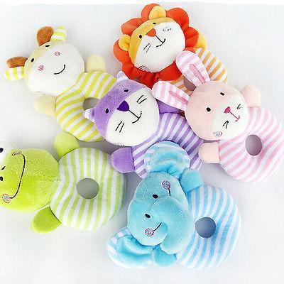 Baby Boy fille Jouets doux Rattle en peluche bleu Lamb Lion Cartoon Animaux Activité sensorielle Jouet soutien Drop Shipping
