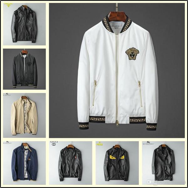 2019 New fashion men sweater famous brands jacket Handmade box logo jacket Bee Korean jacket Gift brown BLUE Men's size lisy2