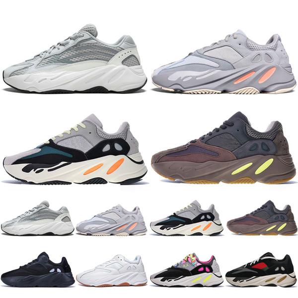 Новый Kanye West 700 V2 Static 3M Mauve Inertia 700s Wave Runner Мужские кроссовки для мужчин Женские спорт