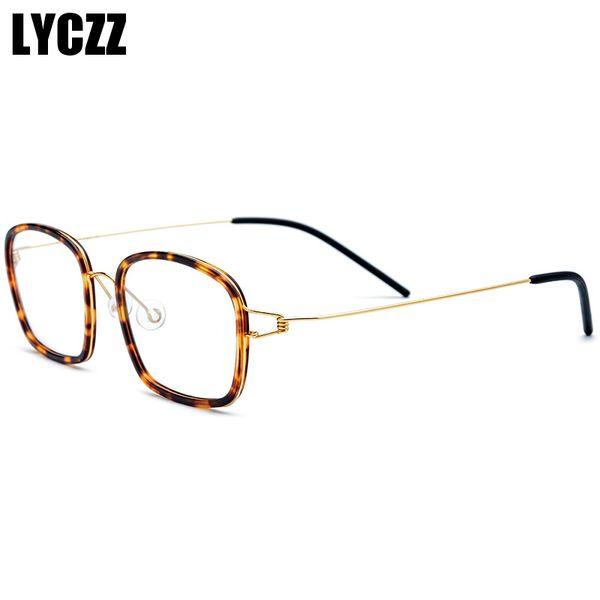 LYCZZ Women Round Brown Leopard Optical Glasses Frame Clear Lens Myopia Eyewear Prescription Eye Glasses Sight Spectacle Frame