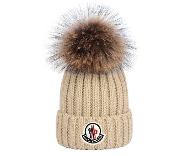 Sombreros de punto para mujer Gorro de invierno Gorro unisex Gorros con pompón Bola de mujer Calaveras Gorras calientes Gorros Hueso Mujer Nuevo